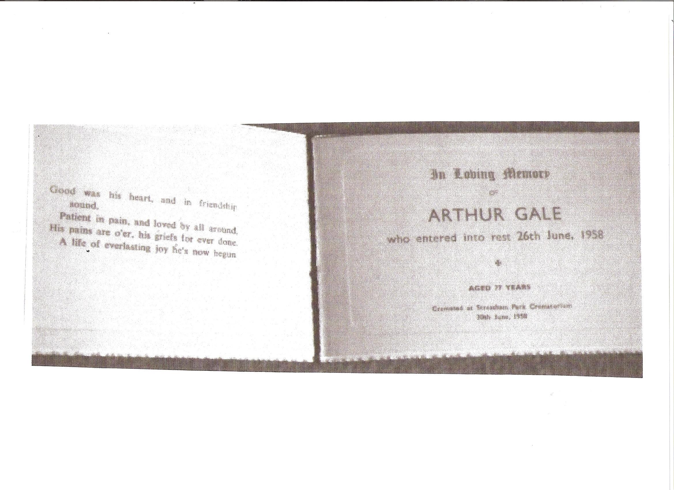 Arthur Henry Gale