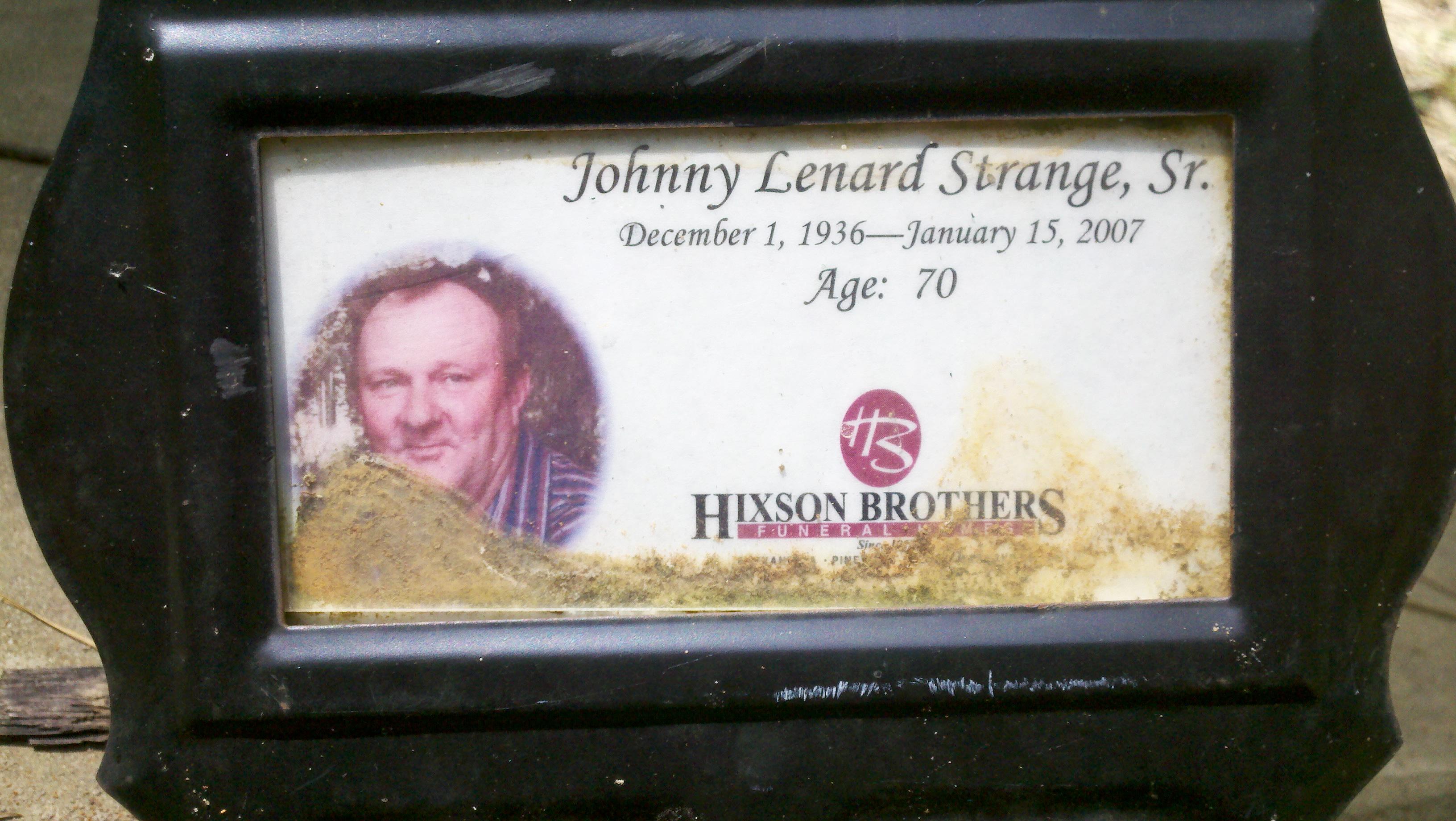 Johnny Erwin Strange