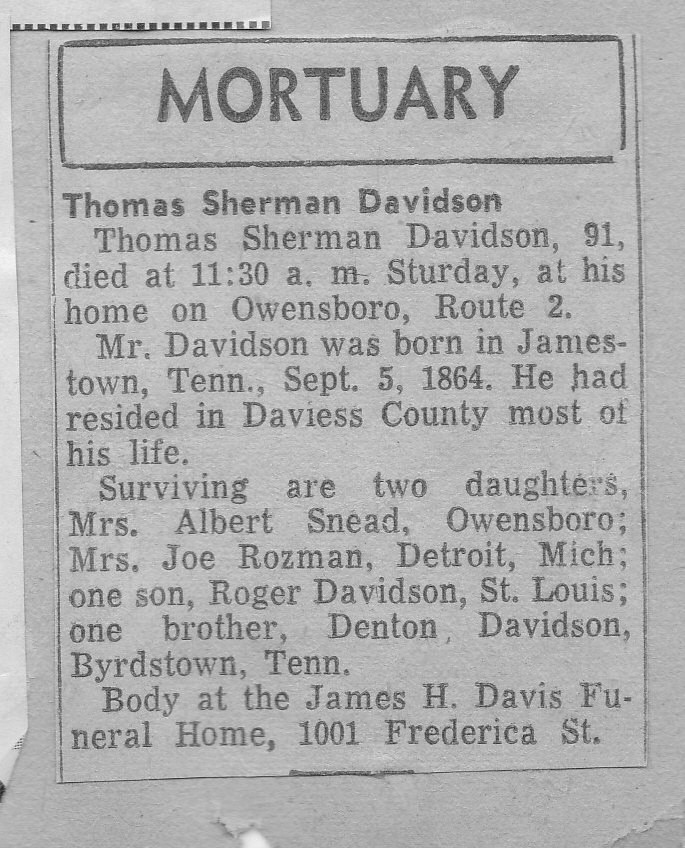 Thomas Sherman Davidson