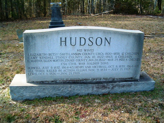 William Joshua  Hudson memorial
