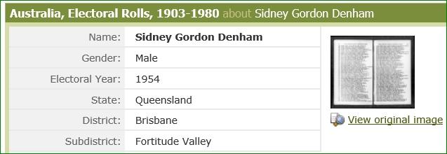 Sidney James Denham