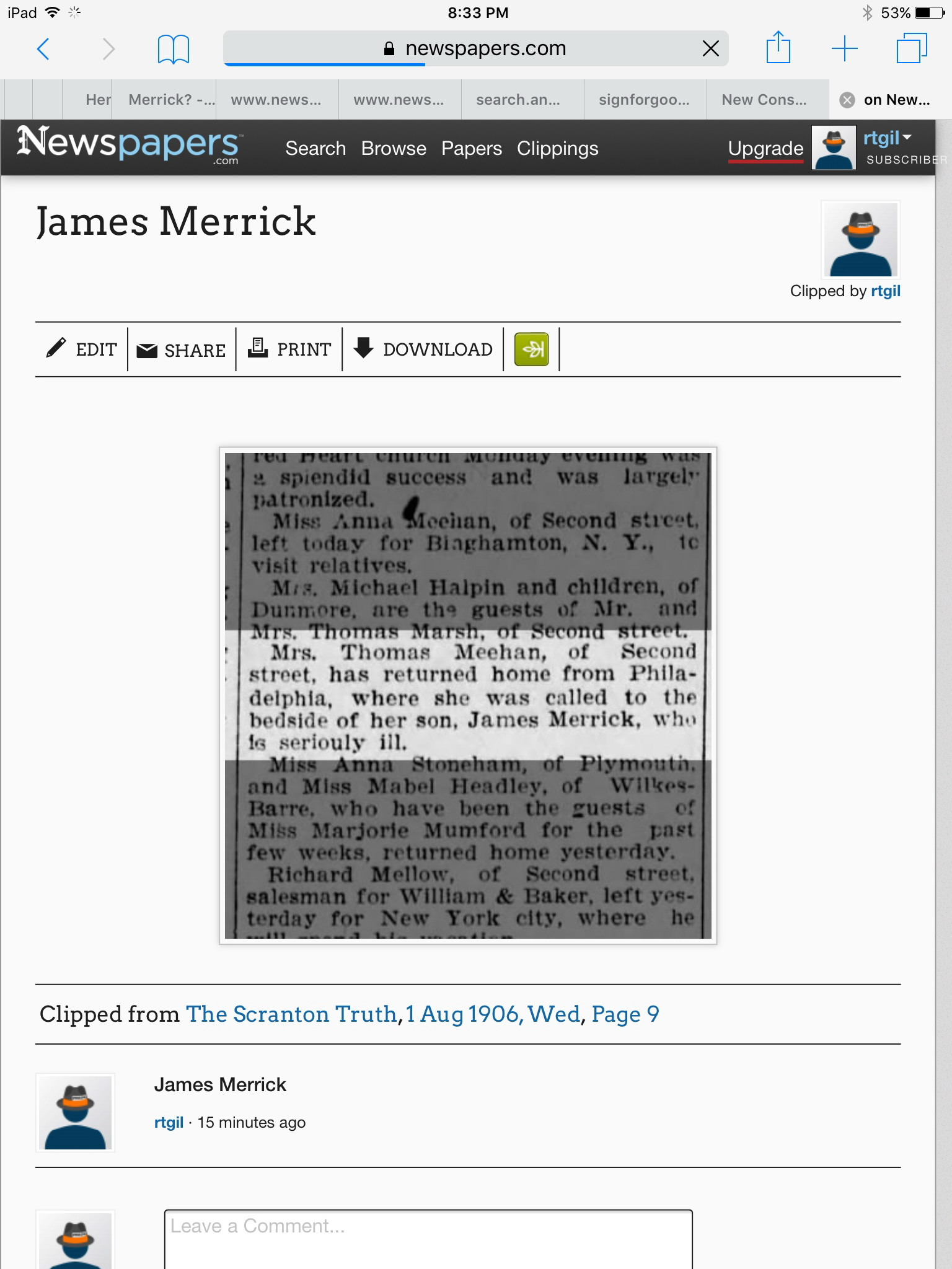 James Bernard Merrick