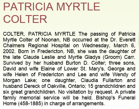 Gwendoline Myrtle Carr