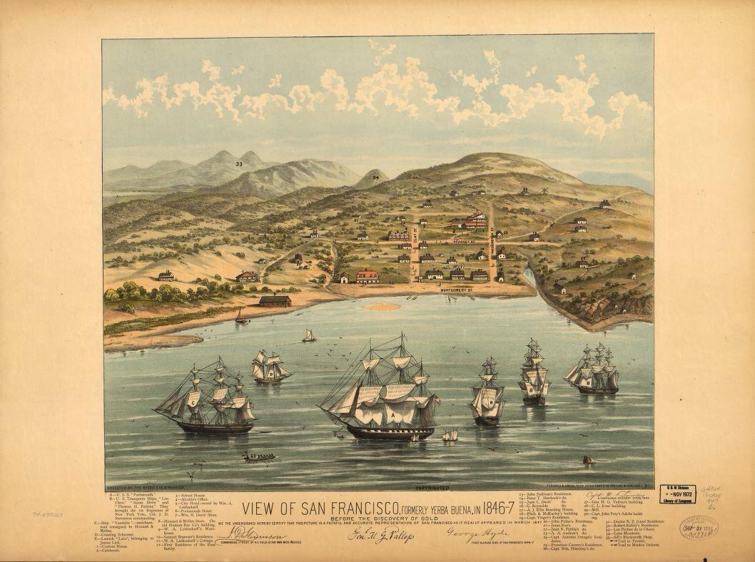 Yerba Buena 1847 litho