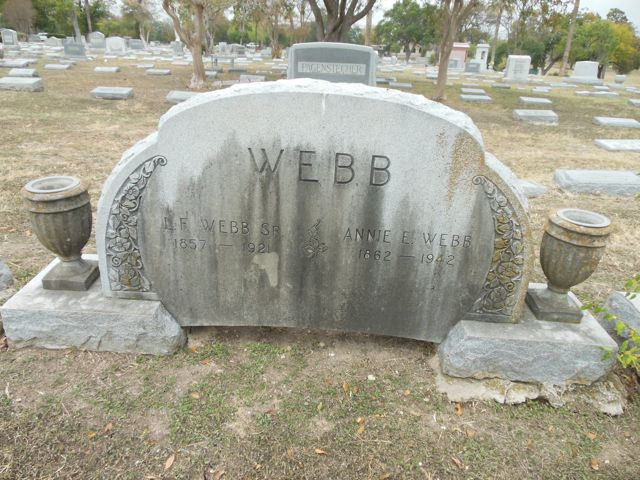 Webb marker Mission Burial Park South San Antonio