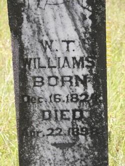 William T Williams marker
