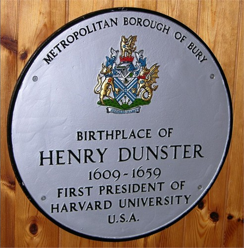 Dunster, Henry 1609-1659 First Harvard U. Pres.