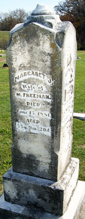 Margaret Jane Christy Freeman headstone