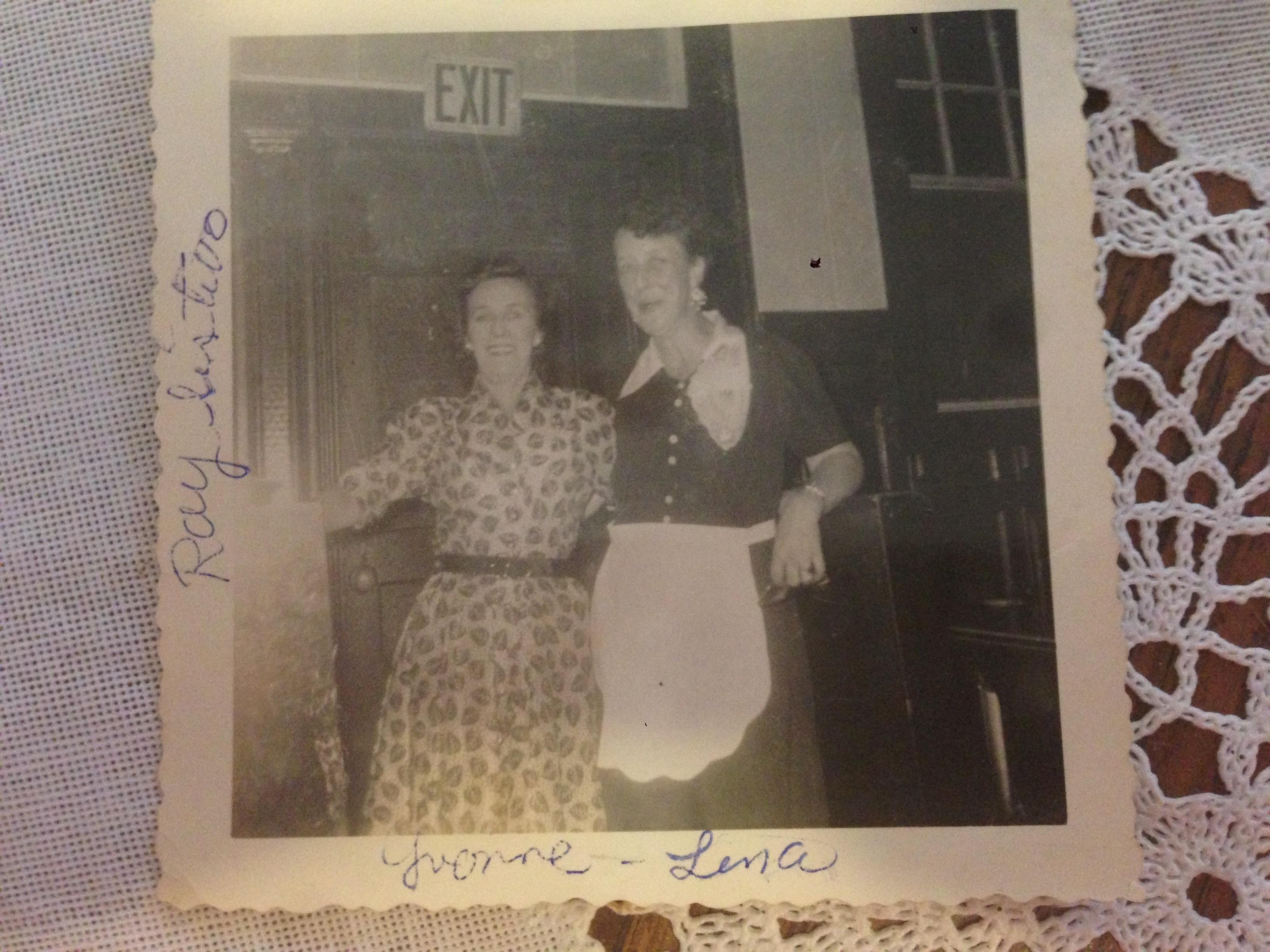 Lena with apron