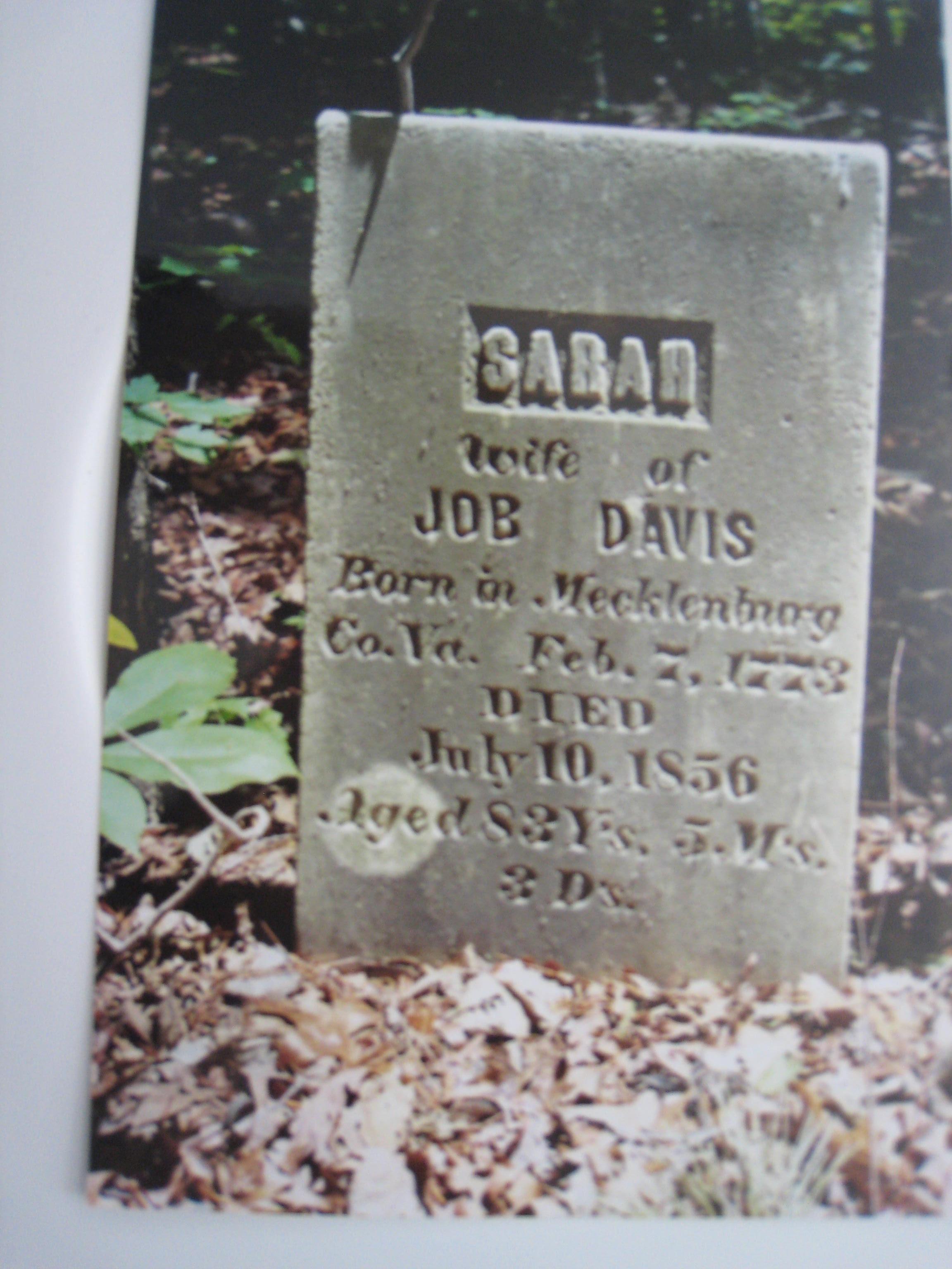 Davis, Sarah