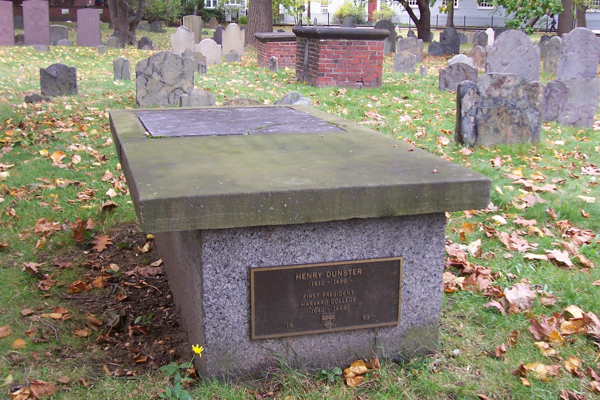 Henry Dunster's gravesite