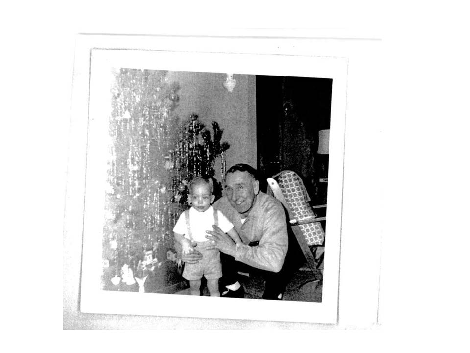 Great-Granddad and Dad at Christmas