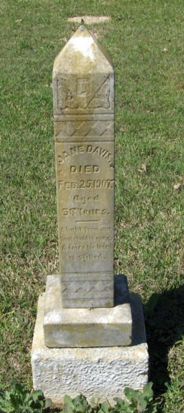 Jane Trant Davis-headstone