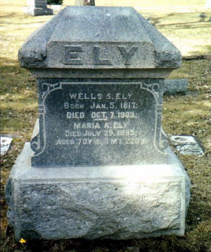 Wells Smith Ely Headstone