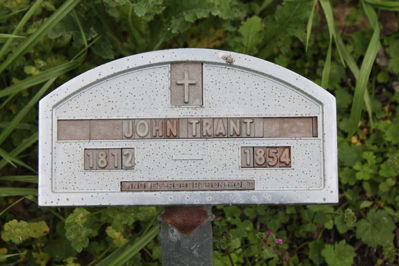John Trant Sr-headstone