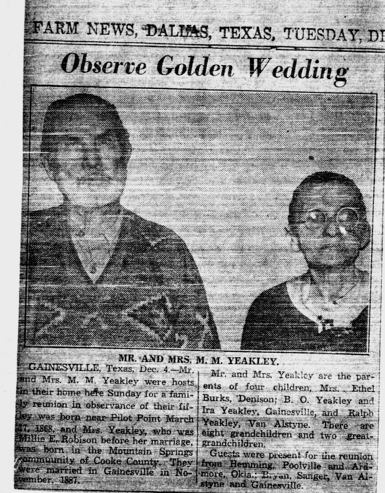 Morgan Melendez and Mille Robison golden wedding anniversary