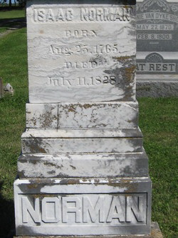 Norman, Isaac - headstone 1828