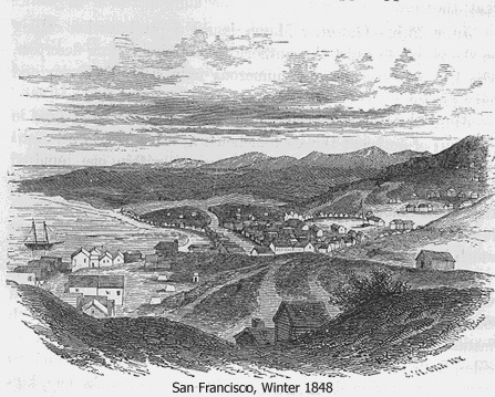 1849 winter in SF