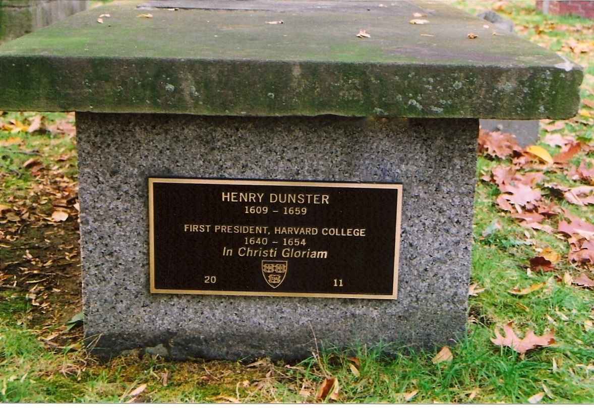 Henry Dunster 1609-1659 marker bench