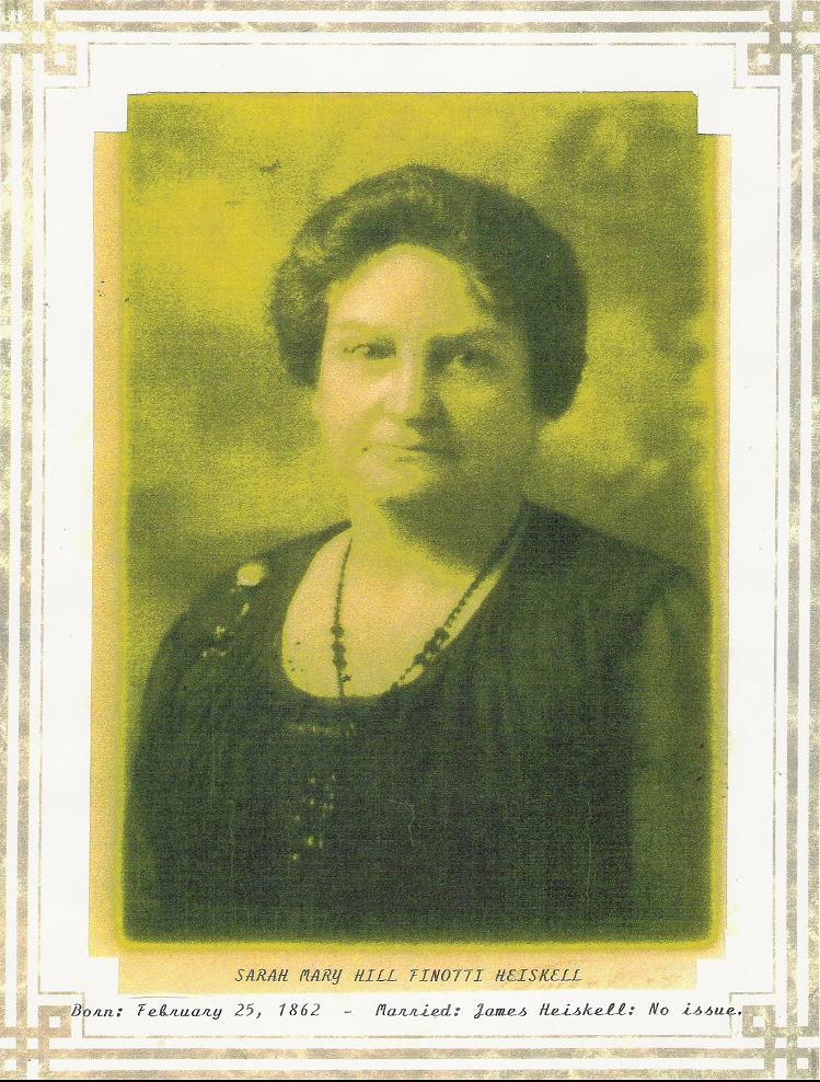 Sarah Mary Hill Finotti Heiskell