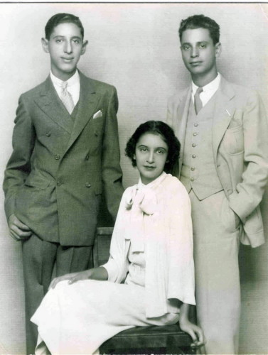 Jeanne, Lewis, and Gus Bacharach