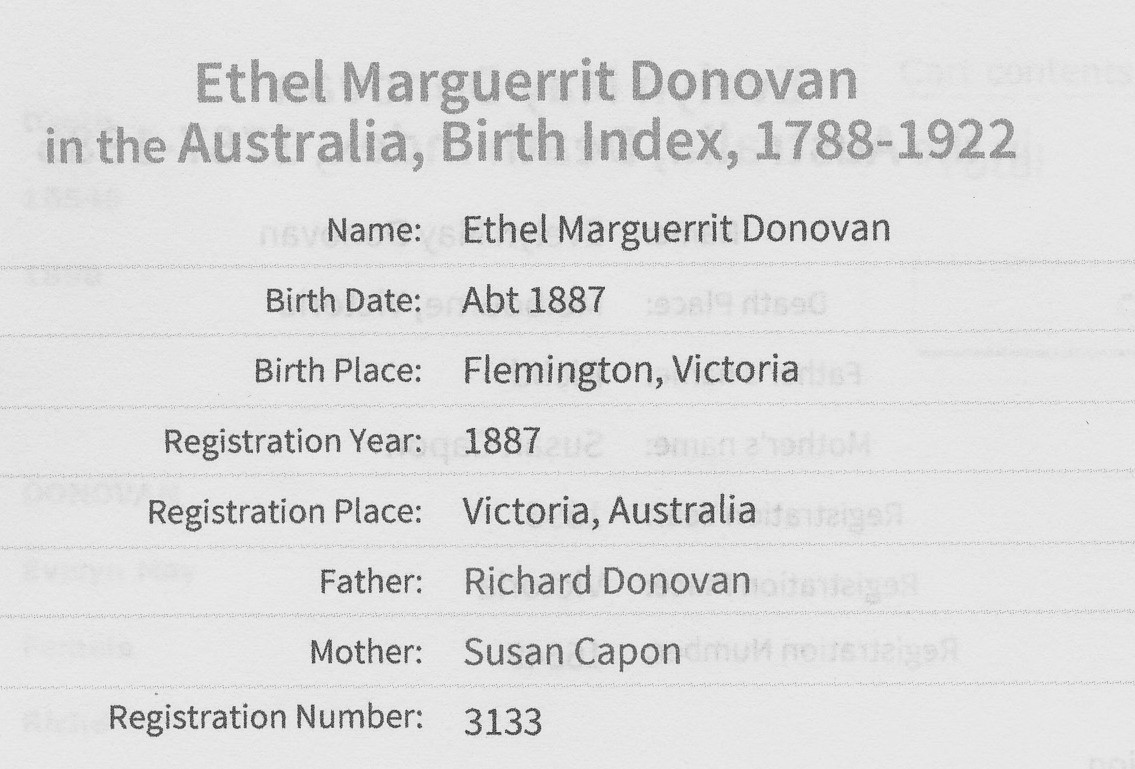 Ethel Marguerite Donovan