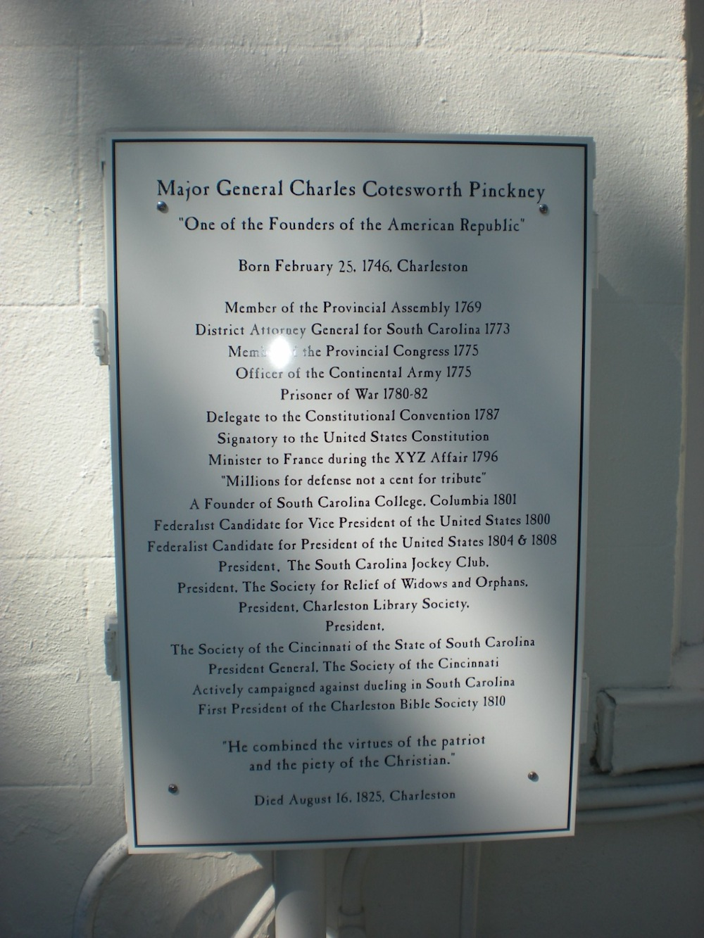 MGen Charles Cotesworth Pinckney