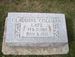 Claudine (w/ o Donald C. 1908) Coleman Lape
