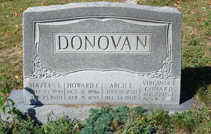 Howard J Donovan