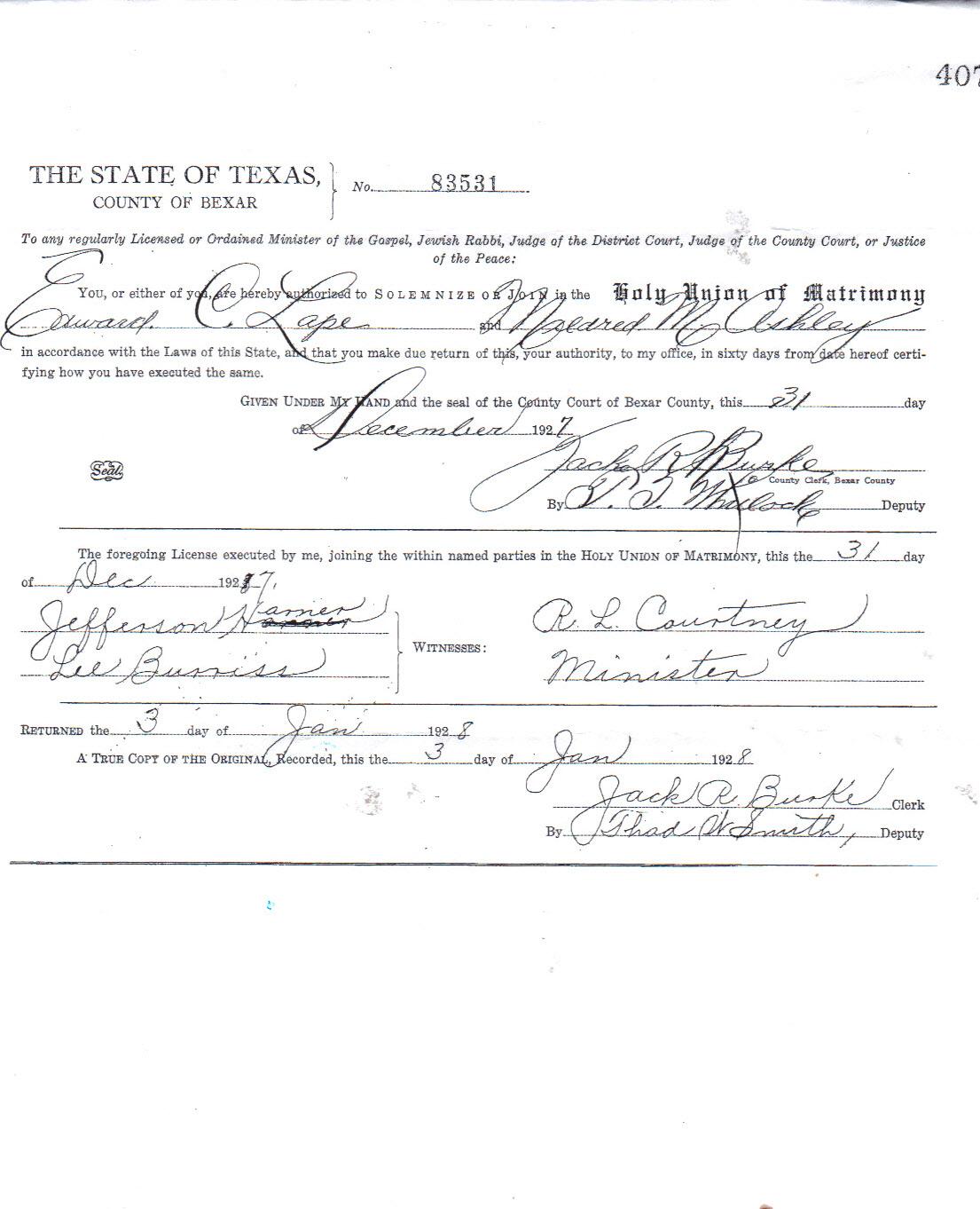 Mildred M. (w/ o Edward C. 1900/Jesse/Jimmy) Ashley Lape Calvert Lawson