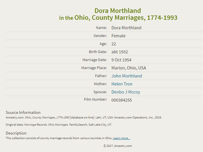Dora Grace Morthland McCoy Erwin