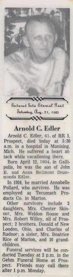 Arnold Chauncey Edler