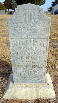 Willie G ( infant son) Brown