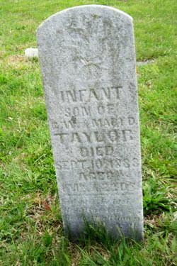 Infant Son of G W & M D Taylor