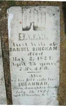 Susannah Bingham* (died as child)