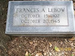 """Francis A """"bud"""" Lebow"""
