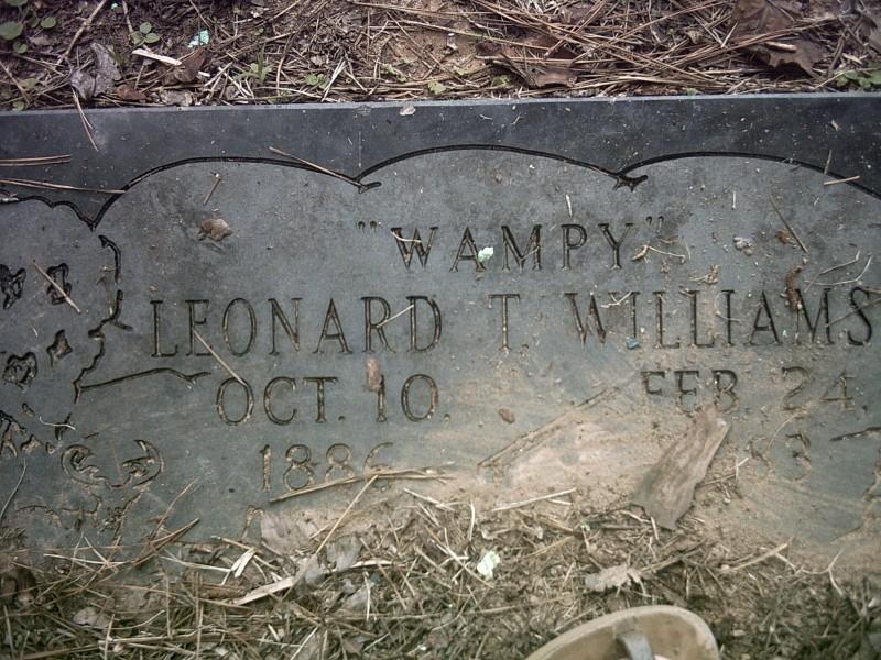 """Leonard T. """"Wampy"""" Williams"""