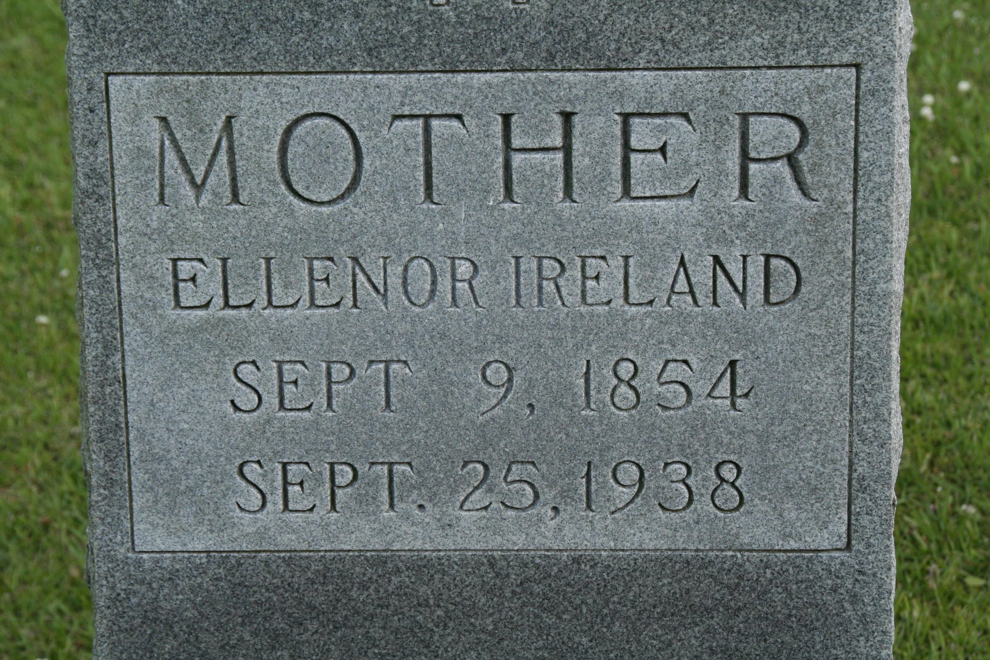 Ellenor Susan (Lupton/Ireland) Johnson