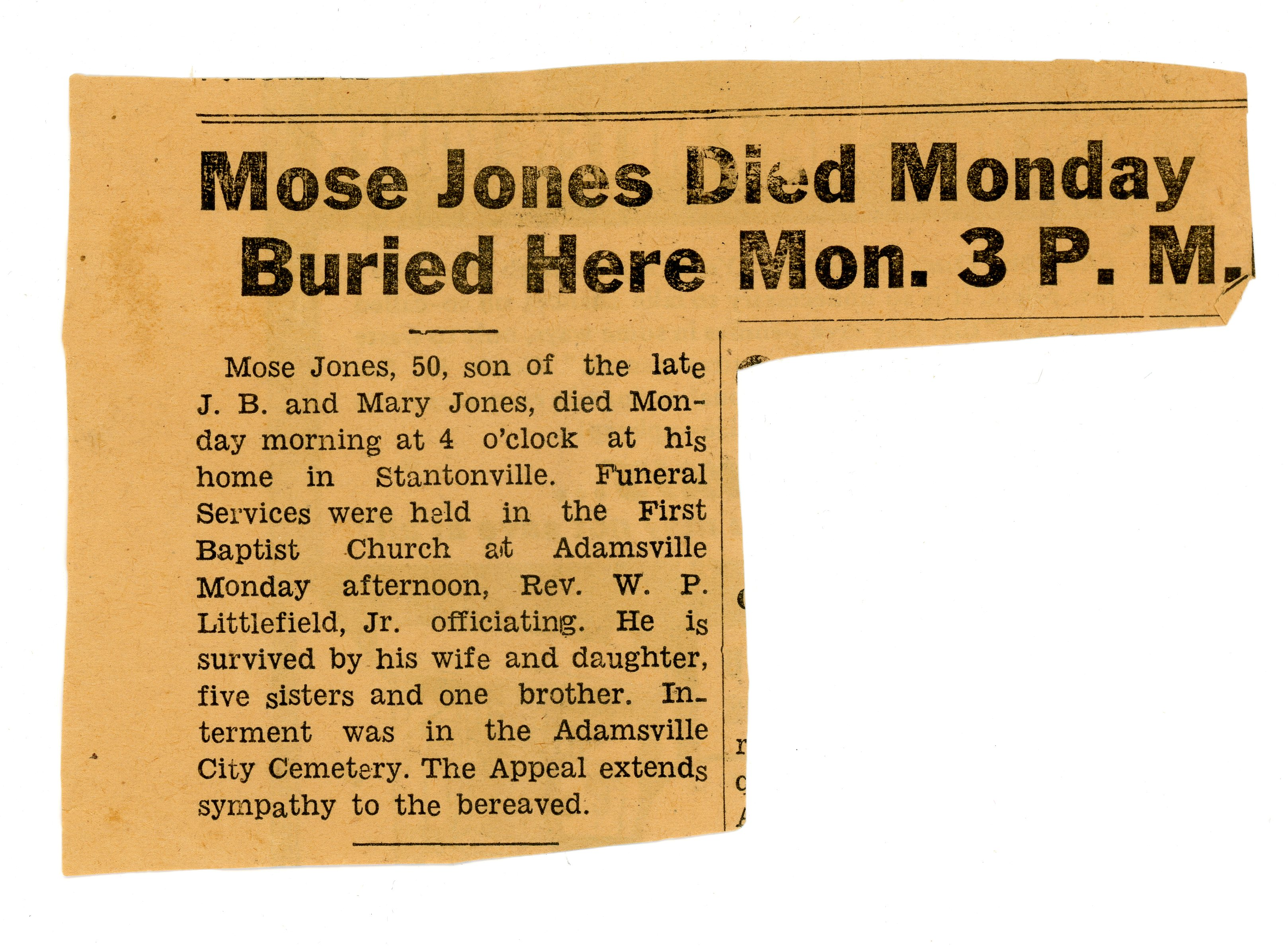 "Abraham Bluford ""Mose"" Jones"