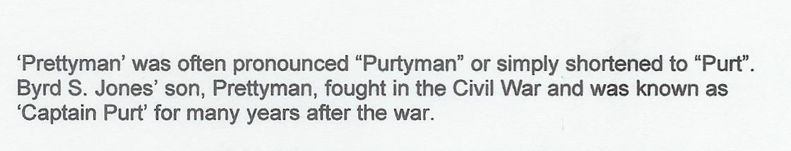 "Prettyman ""Capt. Purt"" Jones"