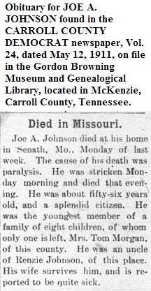 "Joseph A. ""Joe"" Johnson"