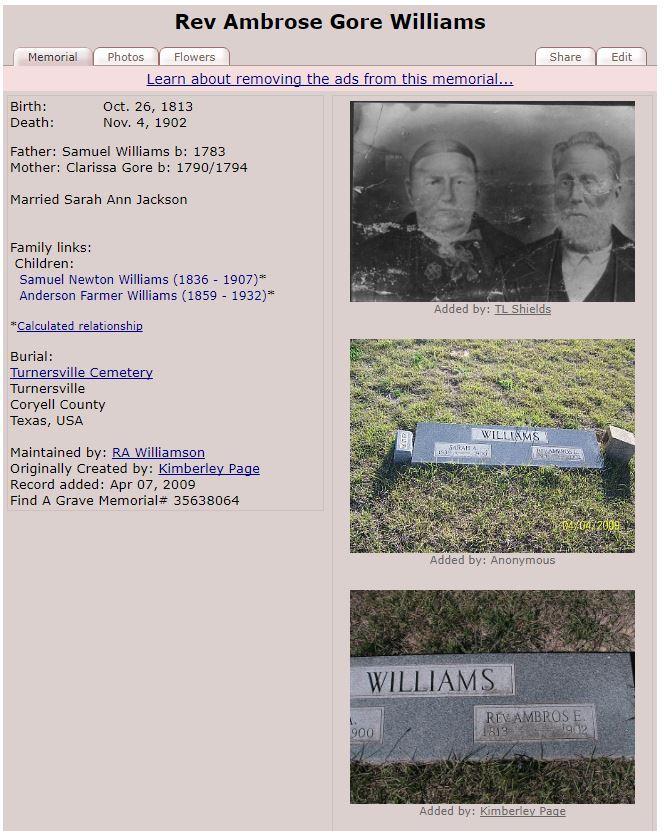 Ambros E Williams