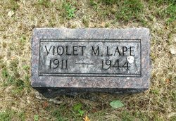Violet M. ( O Wedlock Relationship WITH Deo C. 1911) Balliet Lape