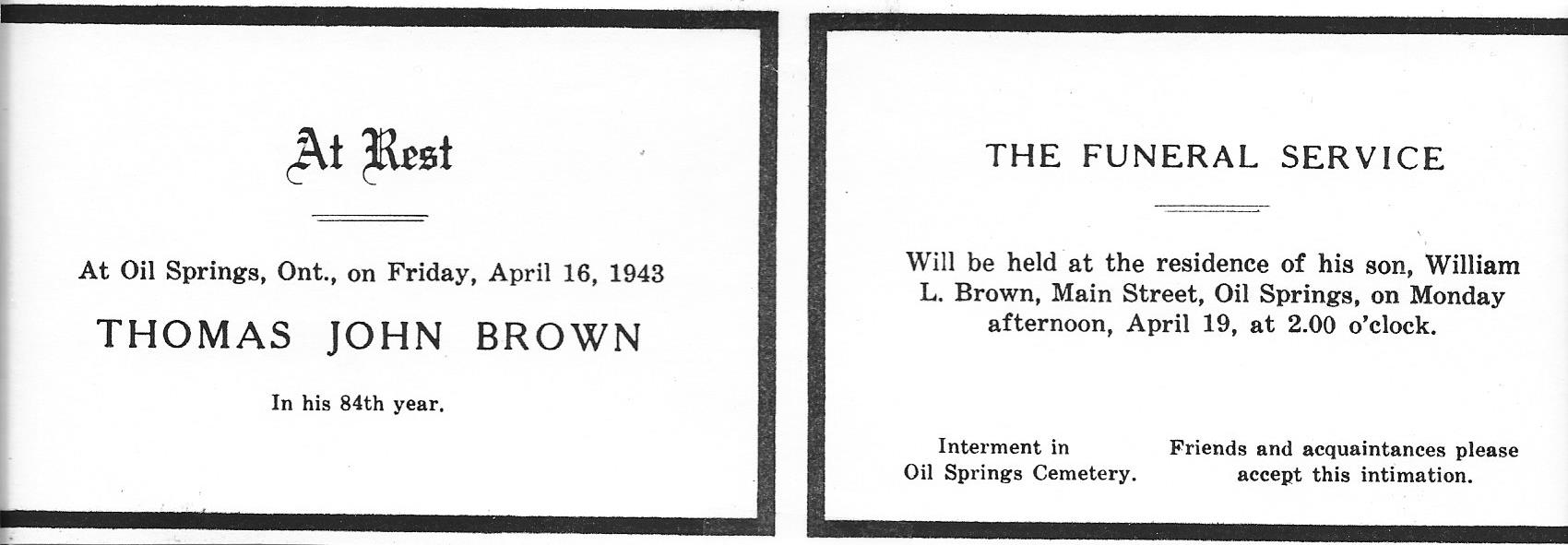 Thomas John Brown