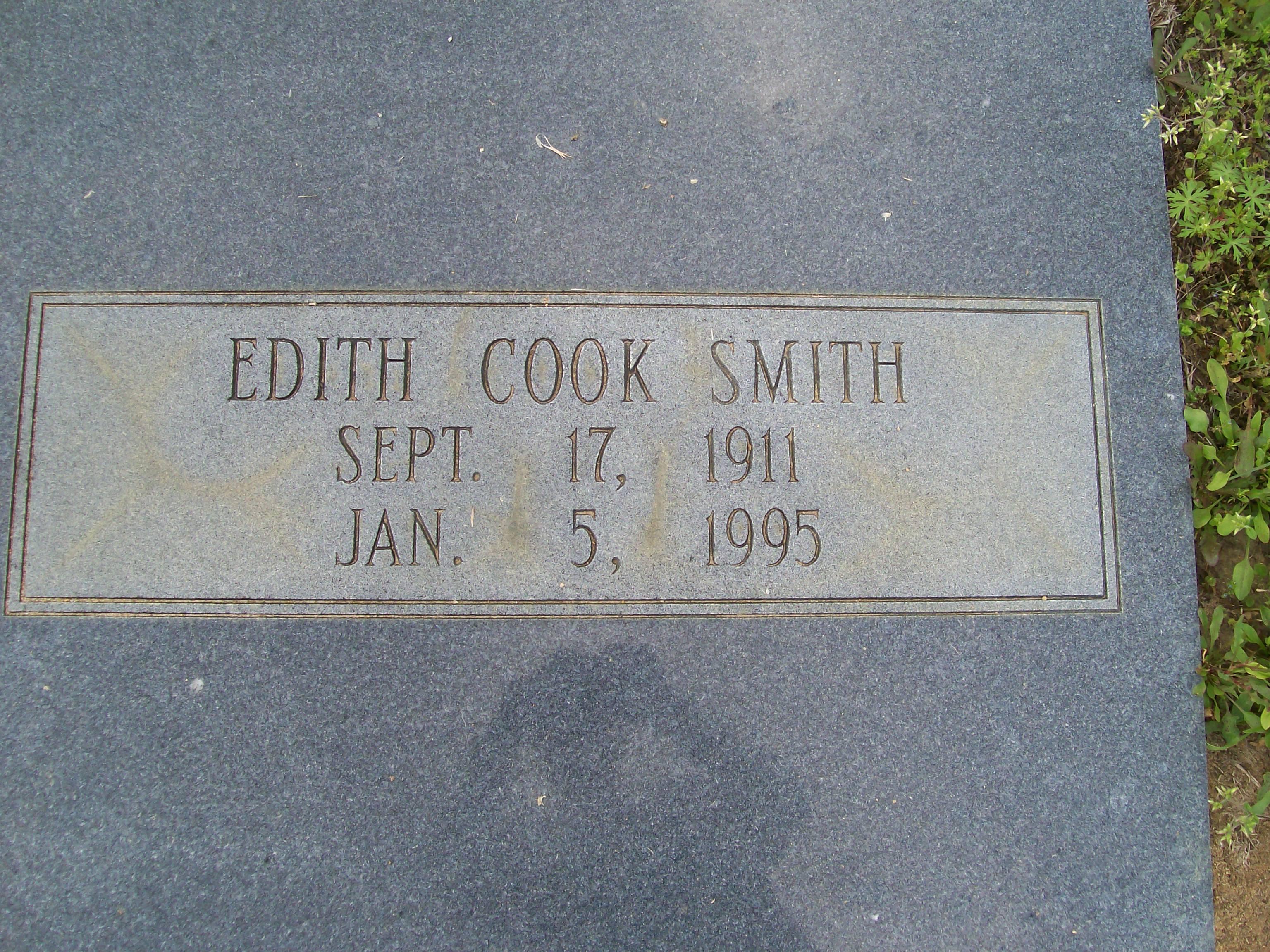 Edith Alberta Cook Smith
