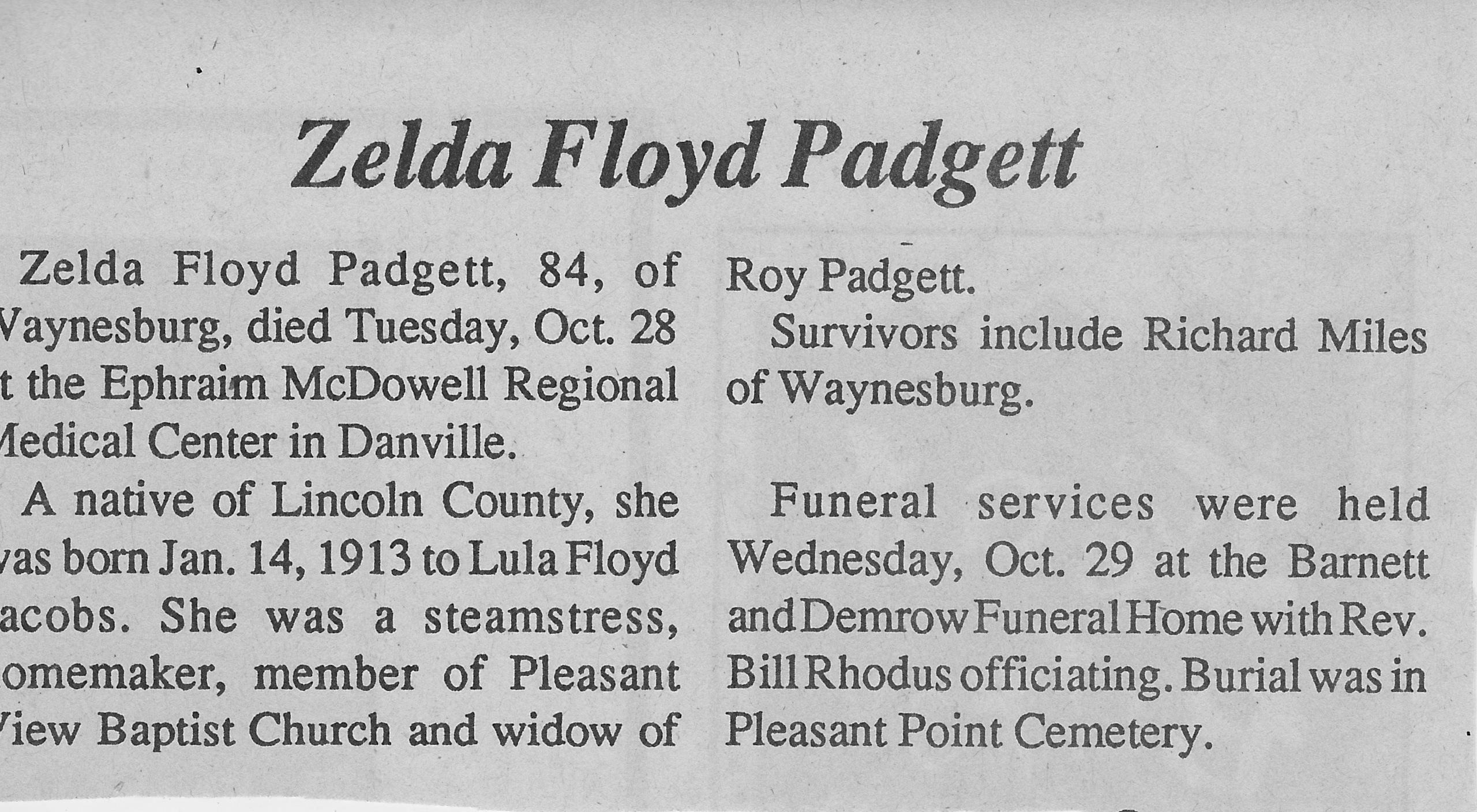 Zelda Floyd