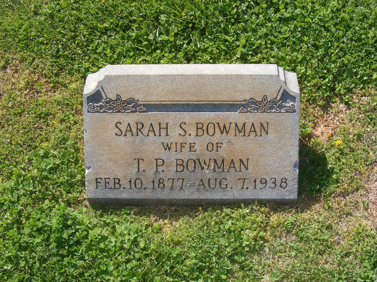 Sarah Susanah Bowman