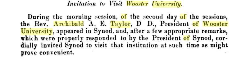 Rev Archibald A E Taylor