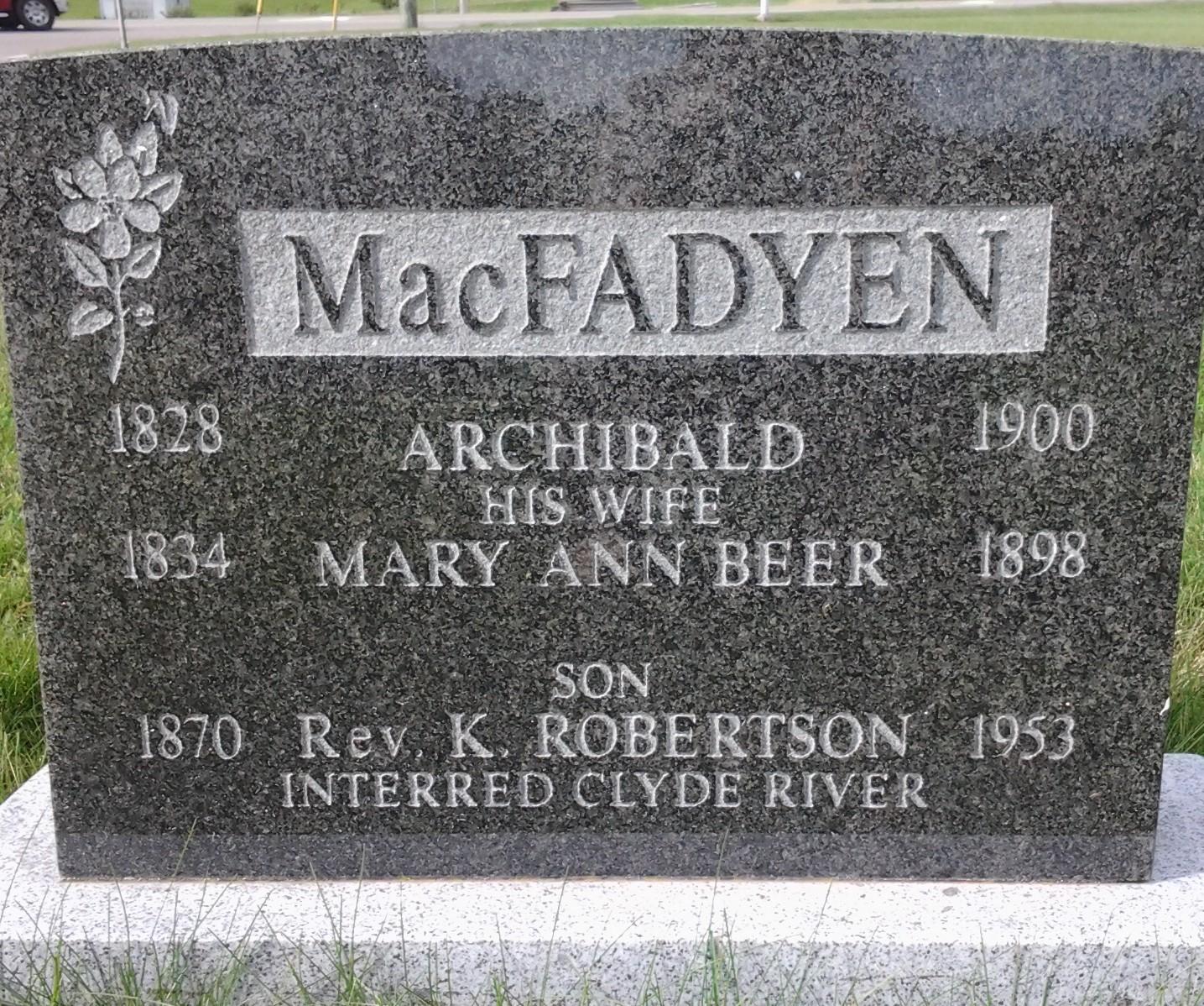 Archibald MacFadyen