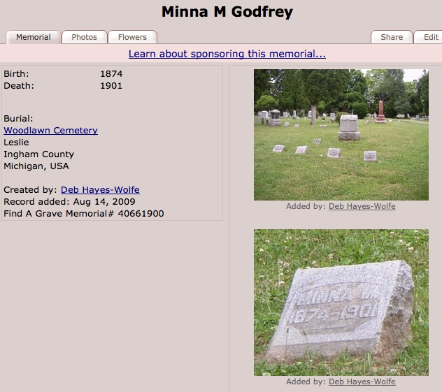 Mina A Godfrey